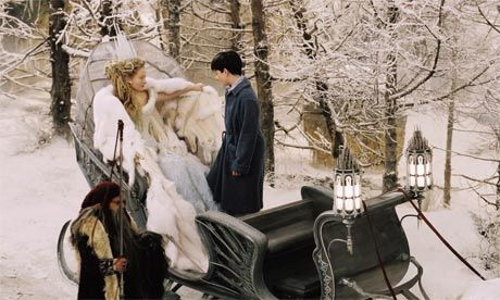"""Tilda Swinton as CS Lewis's White Witch from """"The Lion, The Witch and the Wardrobe"""". Photograph: Photo Credit: Phil Bray/Disney/Walden Media"""