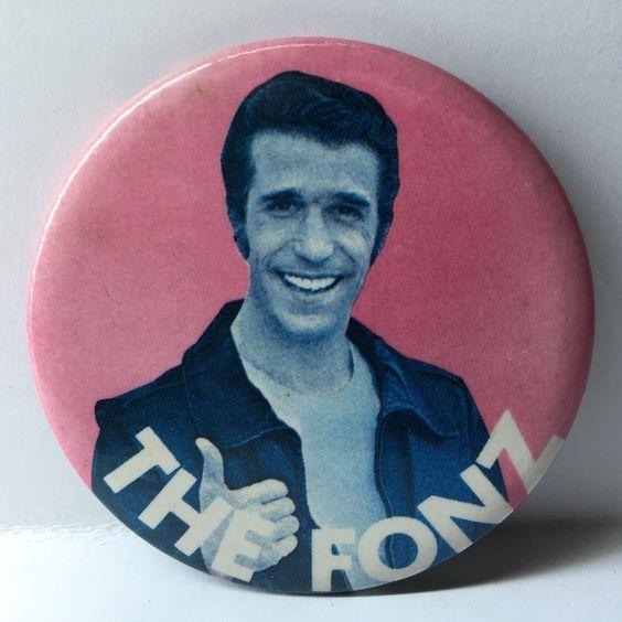 Vintage BUTTON:  The Fonz - 1976 - Paramount Pictures