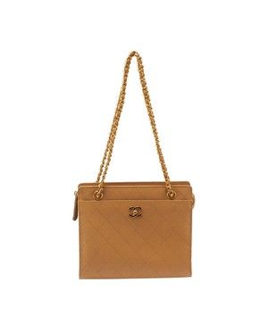 Chanel Vintage Quilted Leather (34426) Tan Tote Bag. Get one of the hottest styles of the season! The Chanel Vintage Quilted Leather (34426) Tan Tote Bag is a top 10 member favorite on Tradesy. Save on yours before they're sold out!