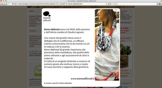 Stone Addicted in vetrina @Bottegas, Milano