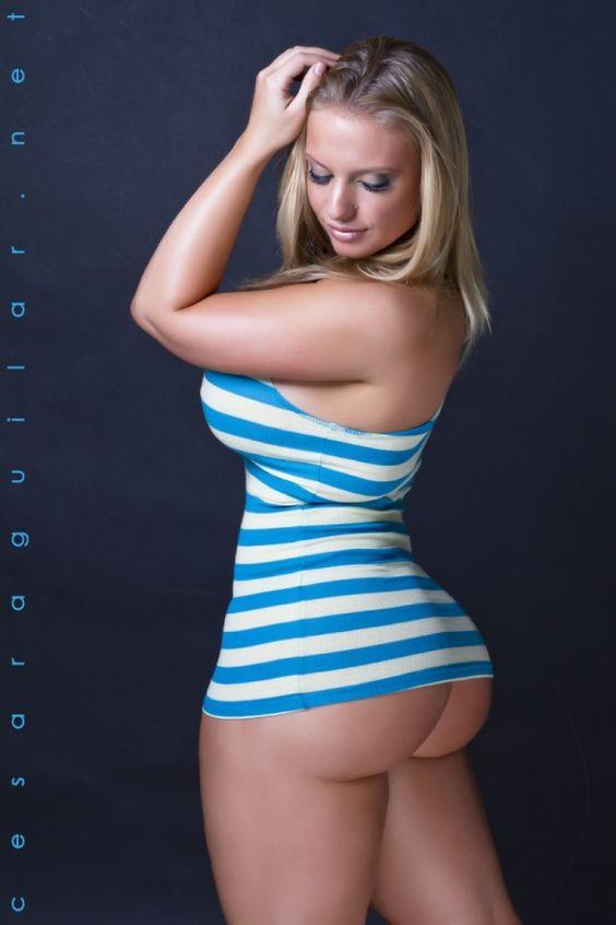 Big ass in blue dress