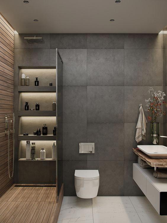 Grey Bathroom Ideas 17 Modernbathroomideas Bathroom Interior Bathrooms Remodel Bathroom Interior Design Modern