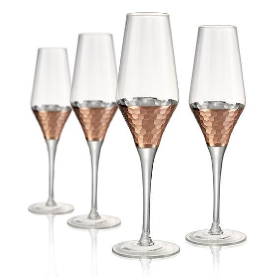 Coppertine Hammer Champagne Flute