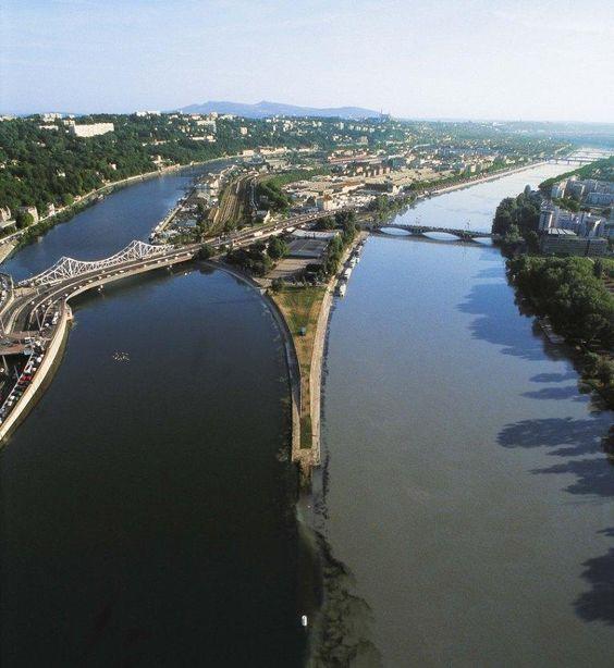 La Confluence du Rhône et de la Saone à Lyon