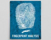 Forensic Science Poster Fingerprint Analysis Science Print Typographic Poster Geekery Science Art Gifts for Teachers Scientist Gifts Doctor