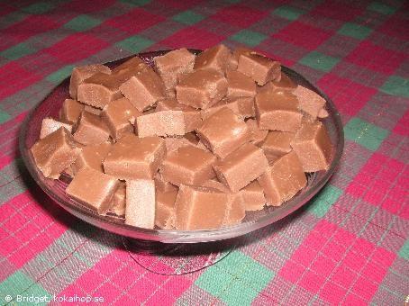 Recept - Supergod fudge!