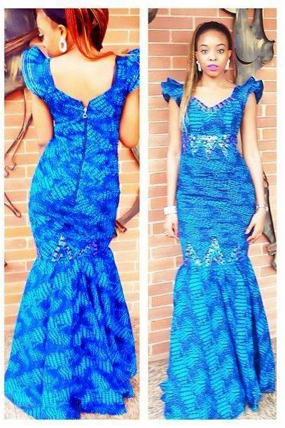 Creative Ankara Gown Style for Ladies http://www.dezangozone.com ...