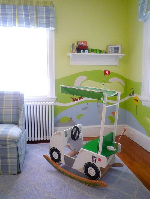 Decorative painting little boys room