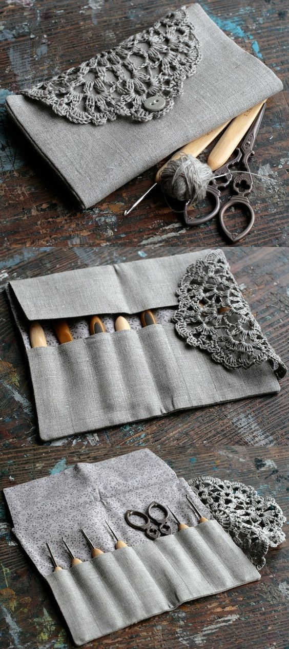 Inspiration :: Pretty crochet case...