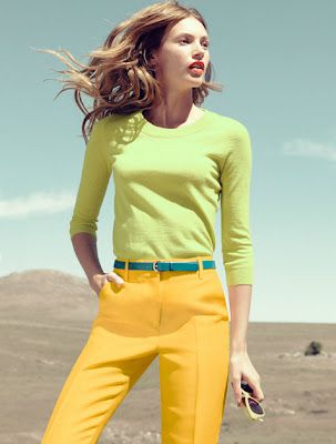Love the color combo - J Crew 2012 #colorblocking