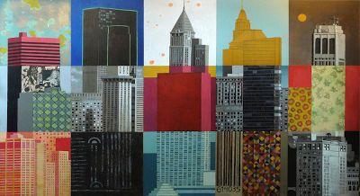 Skyline. Acrílico sobre madera.240x120 cmts. | Javier Infante del Rosal