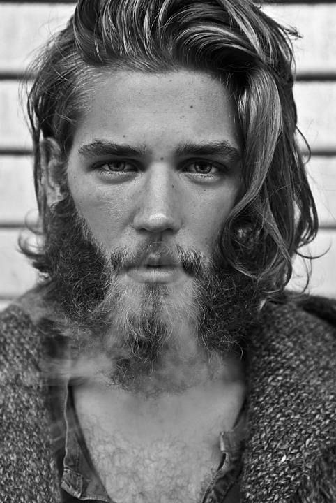Long Hair Men Beard