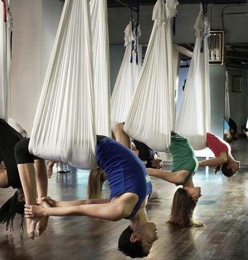 Aerial yoga. interesting