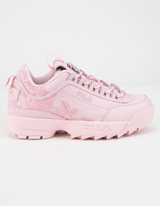 FILA Disruptor 2 Embroidery Pink Womens