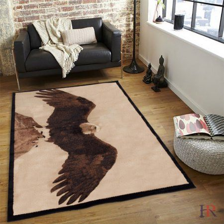 Hr Rustic Cabin Area Rug Eagle And