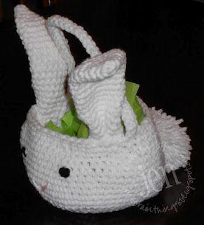 crocheted bunny basket