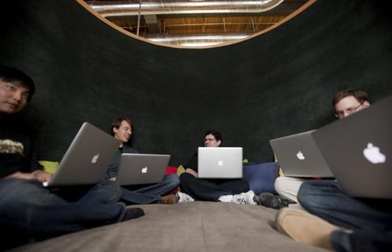 "office think tank | Think tank"" at Google's Kitchener, Ontario office. 