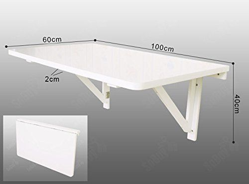 Sobuy large size wall mounted drop leaf table folding kitchen dining table working desk 100 - Wall mounted drop leaf table white ...