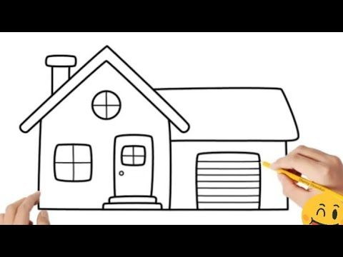 Pencil Drawing How To Draw A House Step By Step Easy Cool Drawings Cool Easy Doodle Youtube In 2021 Cool Drawings Simple Doodles Pencil Drawings