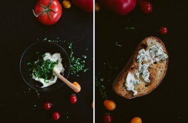 Tomato Toast with Basil Butter | Foodie Favs | Pinterest | Toast ...