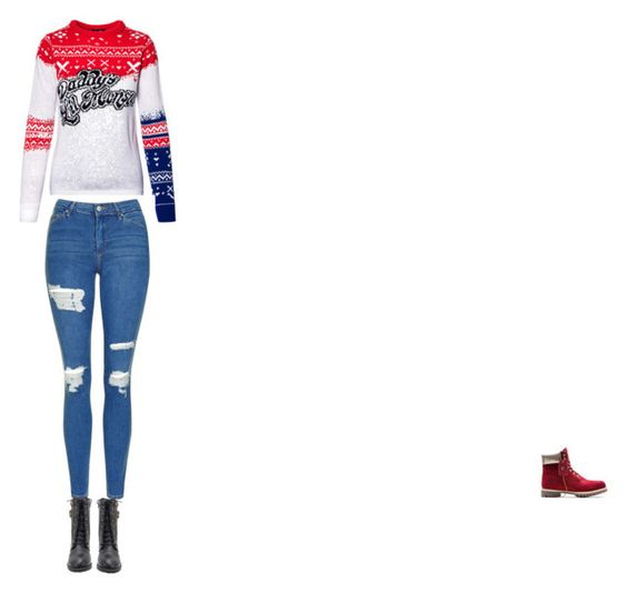 """""""Untitled #1"""" by ilovedogs2111 on Polyvore featuring Topshop and Timberland"""