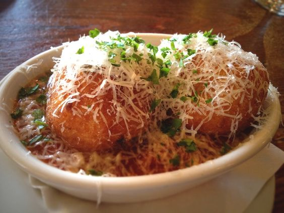 When you go to Austin, don't miss strolling down South Congress and checking out the funky shops and food trucks. This main drag is the heart and soul of the city. End up at Enoteca for a bite at the bar. We had these amazing crispy risotto balls filled with fontina cheese. Try Debi & Gabriele's Risotto Croquettes at home: http://bit.ly/wbeSMT