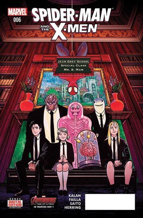 Spiderman y La Patrulla-X 39¡Último número! Spidey está atrapado en las garras de uno de los peores enemigos de La Patrulla-X! Revelamos todas las traiciones, engaños y malentendidos de su estancia en el Instituto Jean Grey. Y además, tenemos un centro comercial totalmente destruido. ¿Por qué no?