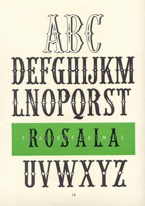 rosala parfums vintage decorative alphabet album de lettres arti 1949 the art of hand. Black Bedroom Furniture Sets. Home Design Ideas