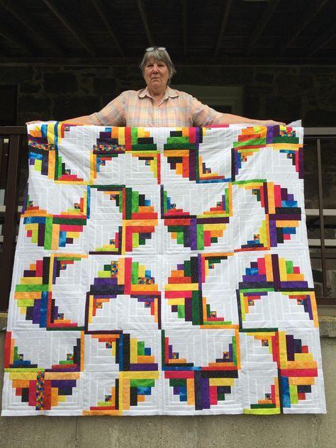 Image result for variations on log cabin quilt pattern