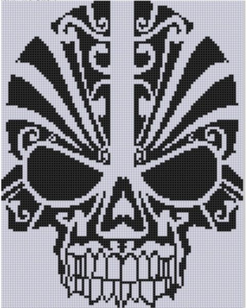 Skull Cross Stitch Pattern: