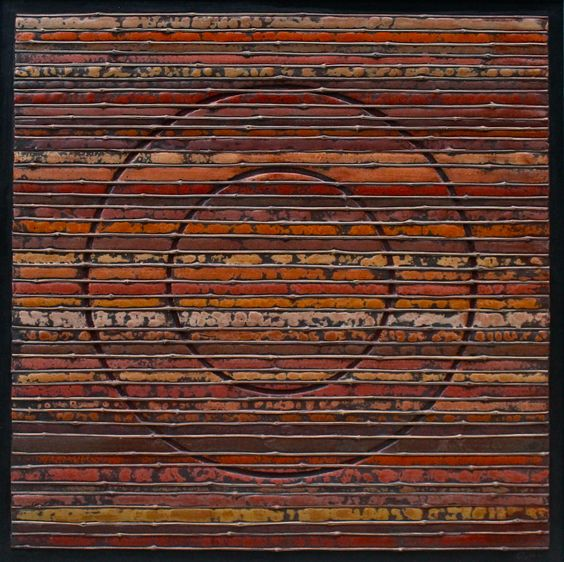 "Stefano Maraner ""The circle, the time."" mixed media/wood on table 2015"