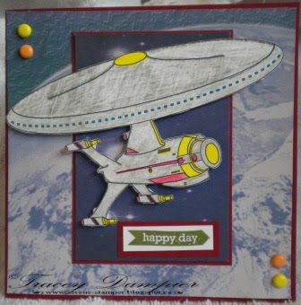 Tracey used Starship Digital Stamp and Paper Pack for this fabulous creation.