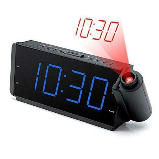 Projection Alarm Clock Radio With Usb Charging Port Fm Radio 10 Preset Stations Ebay In 2020 Radio Alarm Clock Projection Alarm Clock Alarm Clock