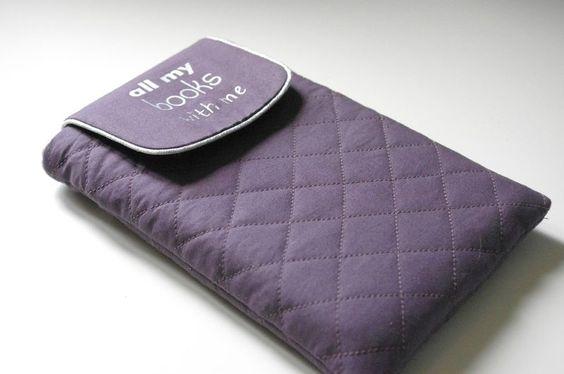 Tuto pochette Kindle ou autres liseuses, smartphones, .... by Ivanne, Grains de couture