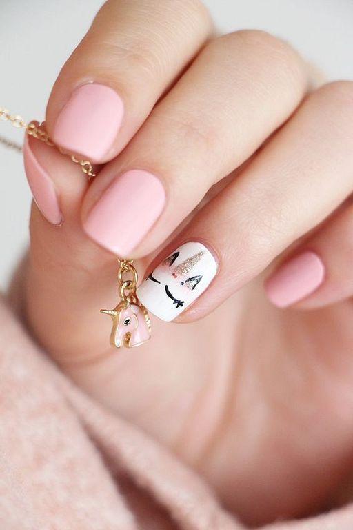 23 Cute Uniqorn Nail Art Designs For Kids nailart