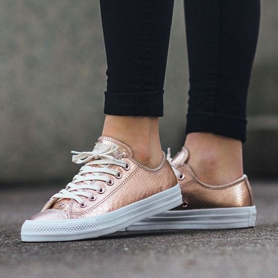 converse chucks rose gold