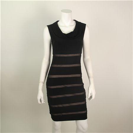 Joseph Ribkoff - Black and Tan Dress $245 | Pileggi favorites ...