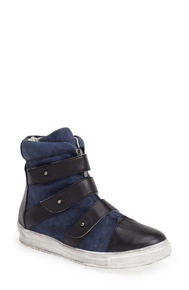 Plomo 'Libby' Leather & Suede High Top Sneaker (Women) Navy Size 37 EU - $495 on Vein - getvein.com