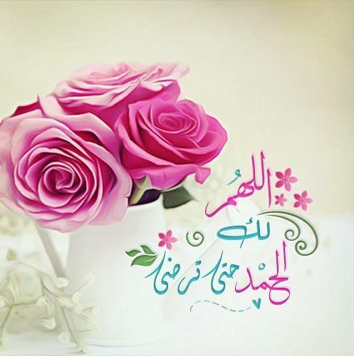 اللهم لك الحمد حتى ترضى Islamic Pictures Flowers Rose