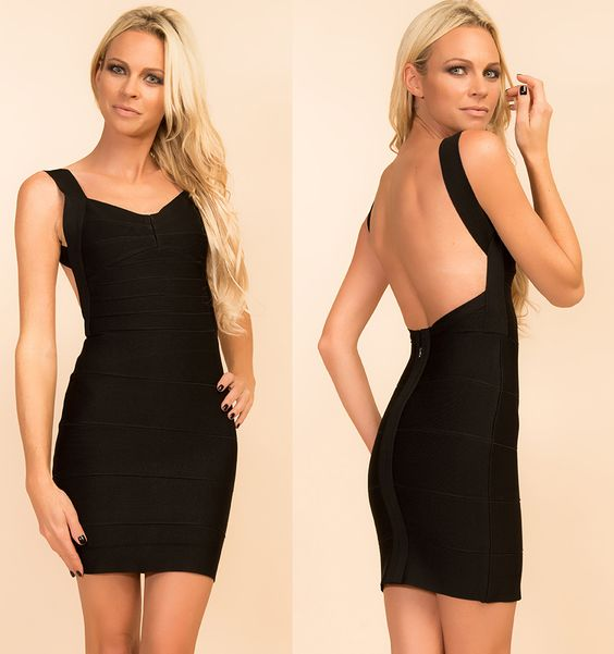 Www.myannika.com black bandage dress