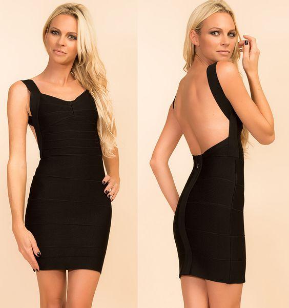 Www.myannika.com black bandage dress