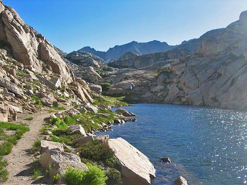 High Sierra Trail between Precipe Lake and Kaweah Gap