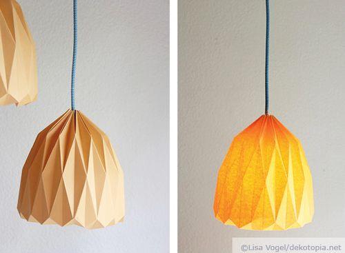 lampada origami - tutorial