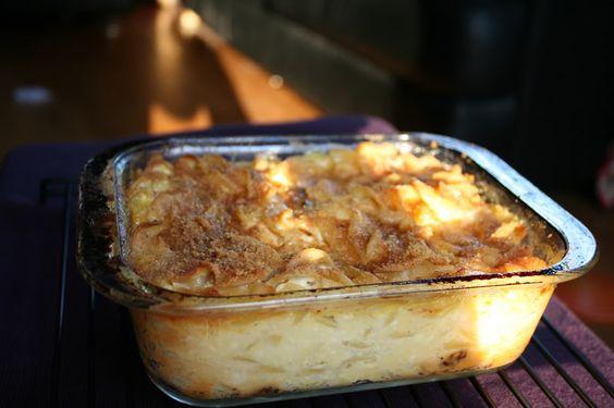 Inspired Bites: Gimme Some of that Less Fattening Kugel  Graham cracker crust kugel