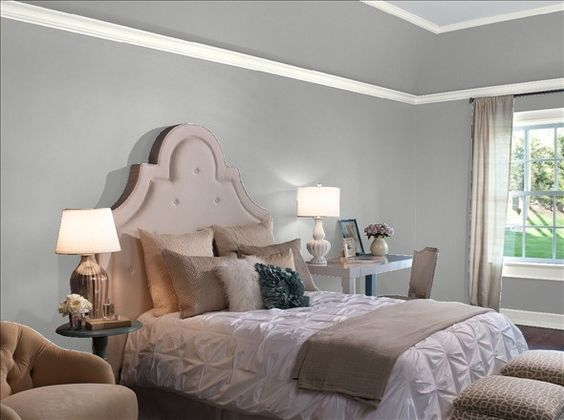 Benjamin Moore Storm Master bedroom