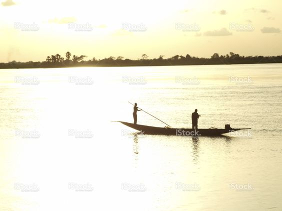 Barge on the Niger at sunset stock photo 58782676 - iStock - iStock ES
