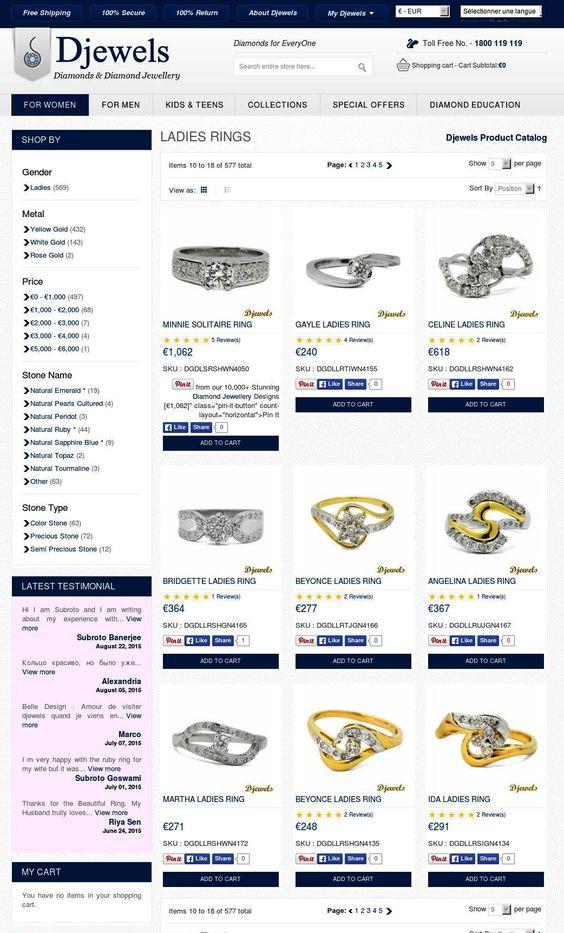 Diamond Jewellery - Rings