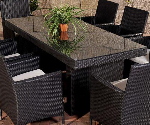 Tisch Avignon Big 200 Cm Schwarz Polyrattan Tisch Outdoor
