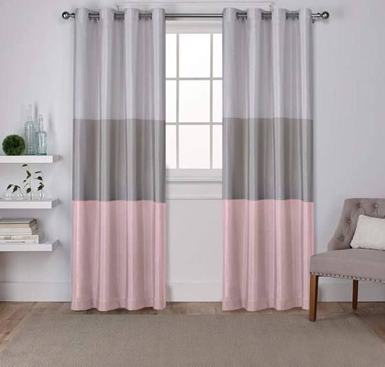 Grey Pink Curtains Bedroom 63 Home Curtains Pink Curtains