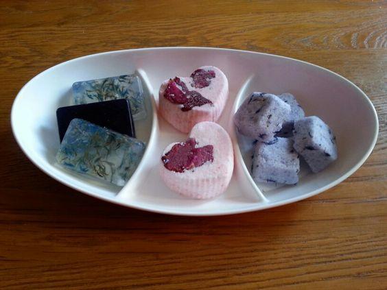 Zelfgemaakte zeep en bruisballen
